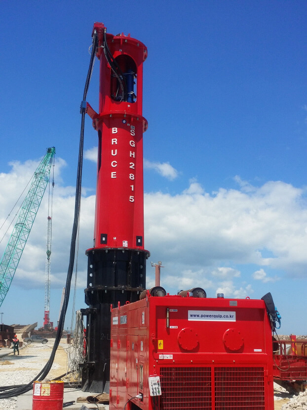 Hydraulic impact pile Hammer Photo - BRUCE Piling Equipment